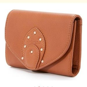 See by Cloe Janis Foldover leather wallet